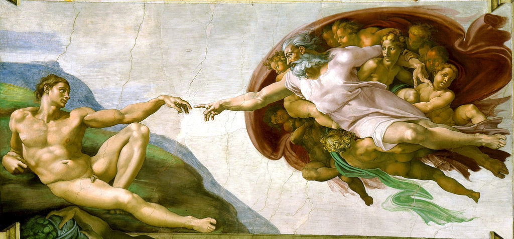 "Michelangelo ""The Creation of Adam"" (1510)"